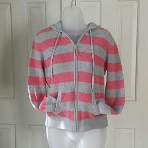 Vineyard Vines pink gray cotton cashmere hoodie